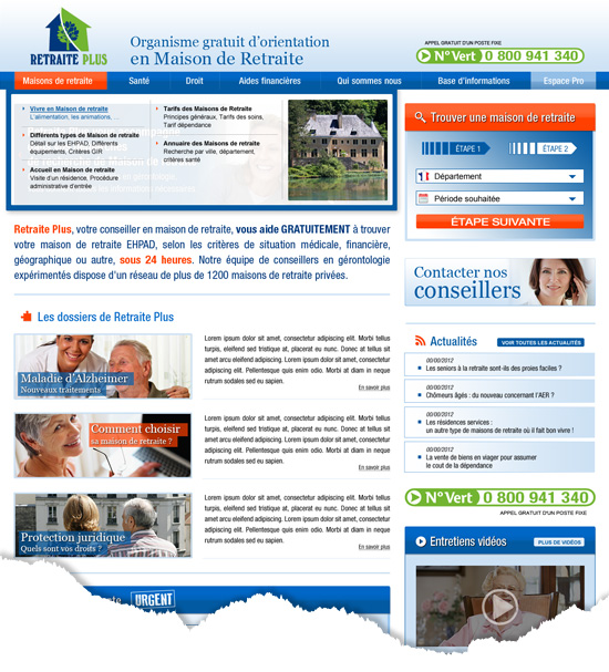 design d'un site internet