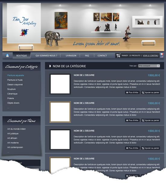 Site E-Commerce liste de produit