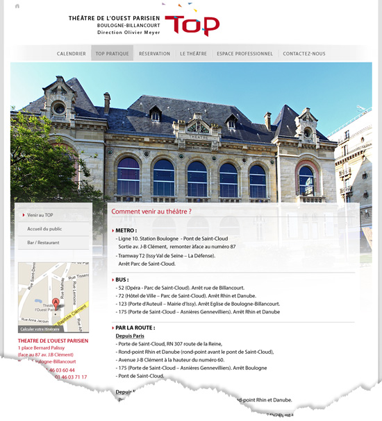 Site institutionnel page standard
