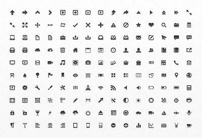 Icônes vectoriels d'applications