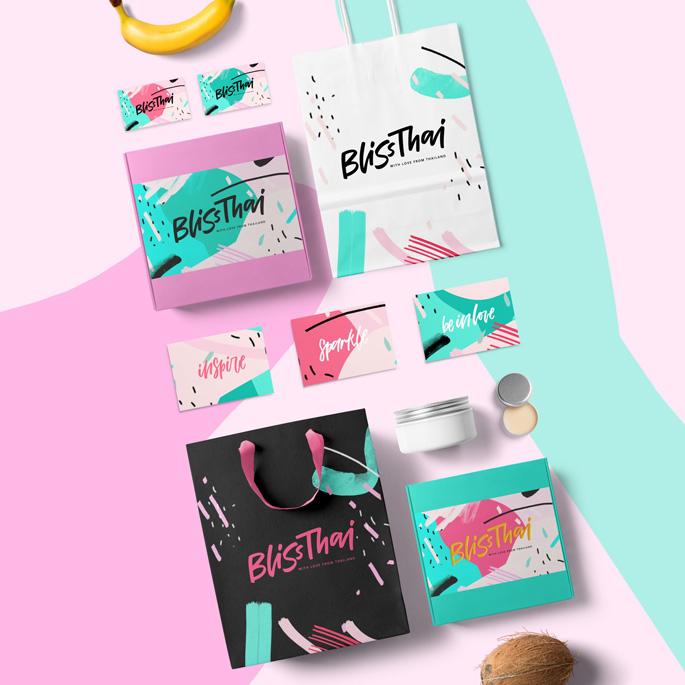 Bliss Thai Brand Identity by Daria Kwon est lauréate dans la catégorie Design graphique et communication visuelle, 2018-2019