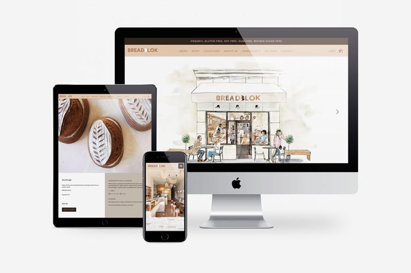 Site internet de la boulangerie
