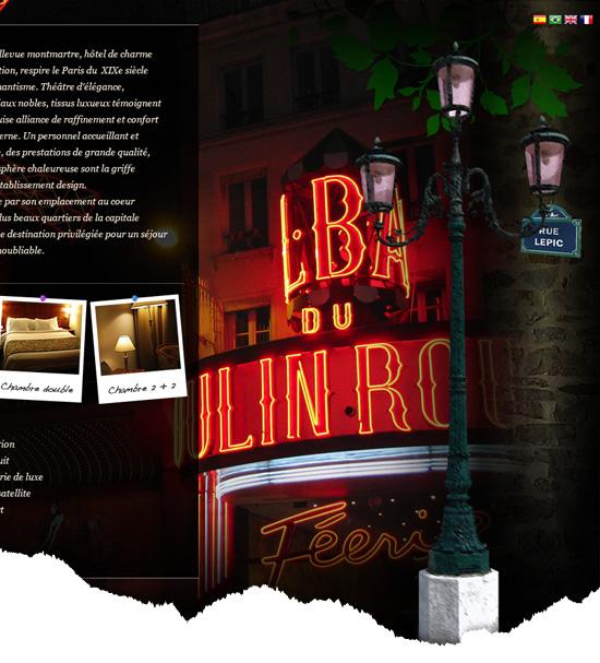 Design web pour un hôtel