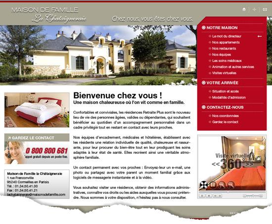 Conception graphique d'un design de site web vitrine