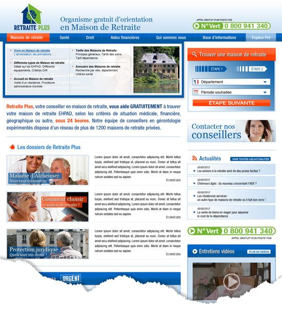 design d'un site internet