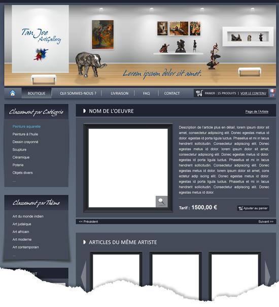 Site E-Commerce détail produit