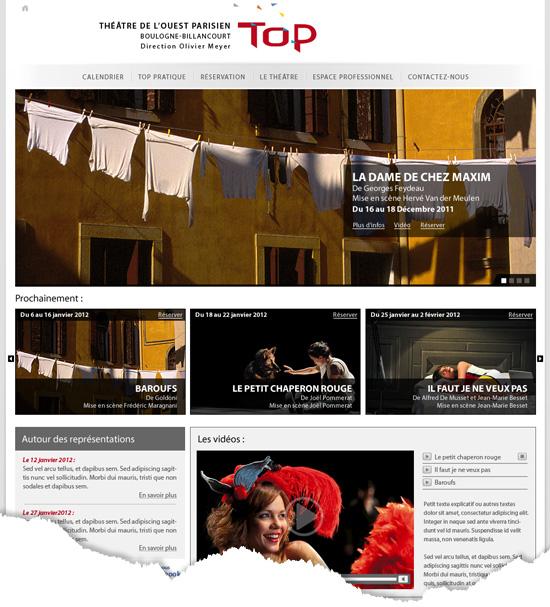 Webdesign d'un site institutionnel