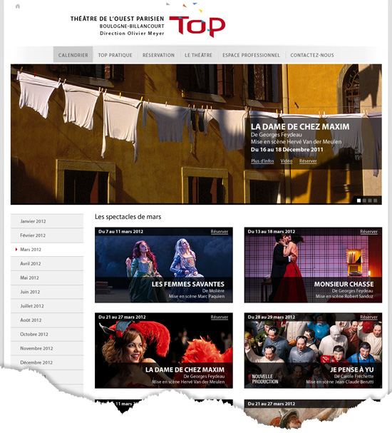 Site institutionnel liste spectacle