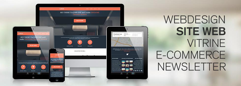Webdesigner freelance création de design de site internet