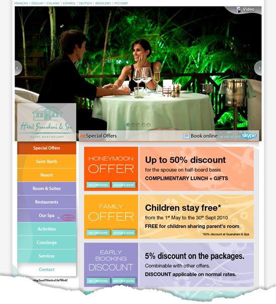 Design web de page du site