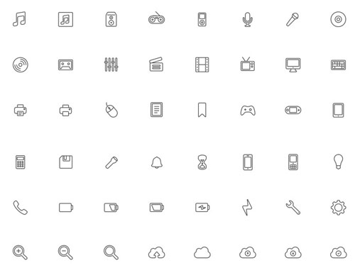 1.free-outline-icons