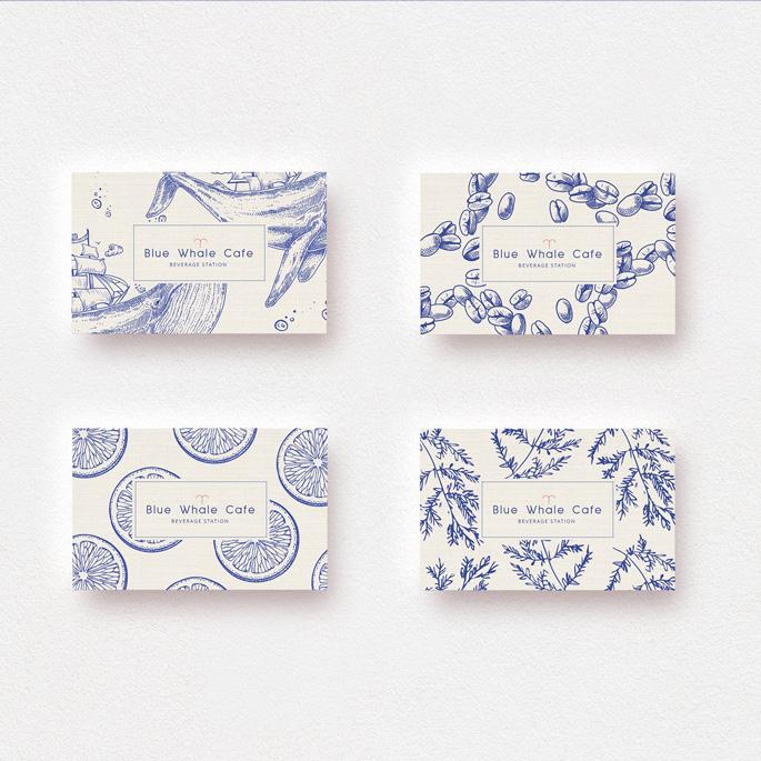 Blue Whale Cafe Branding Café Branding de Yunjin Jung est lauréat dans la catégorie Conception graphique et communication visuelle, 2018-2019