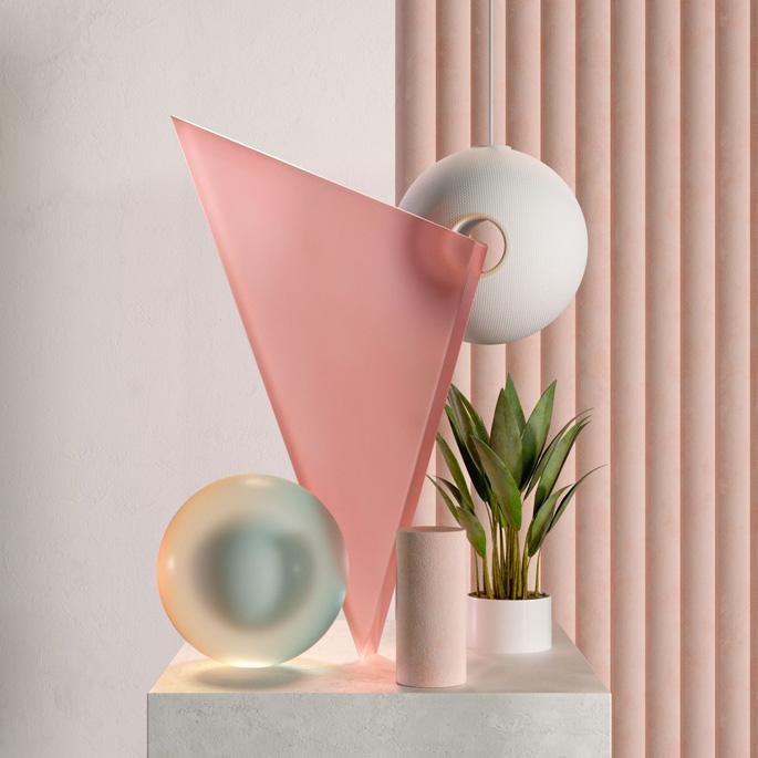Les compositions abstraites réalisées par Nestor Ramos Martinez sont lauréates dans la catégorie Infographie et conception de modèles 3D, 2018-2019