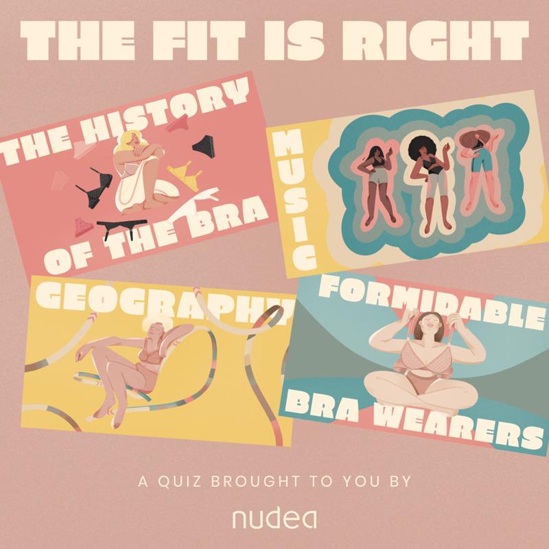 Illustrations de quiz par Eugenia Mello pour NUDEA