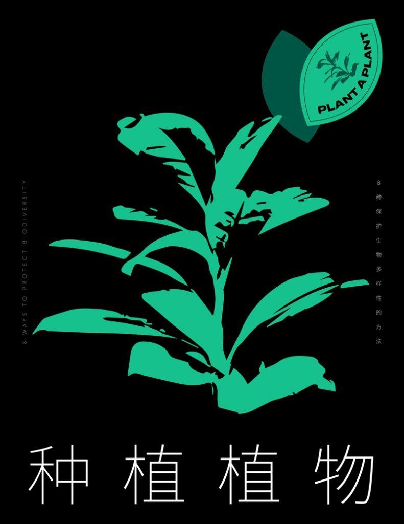 Affiche protéger les plantes