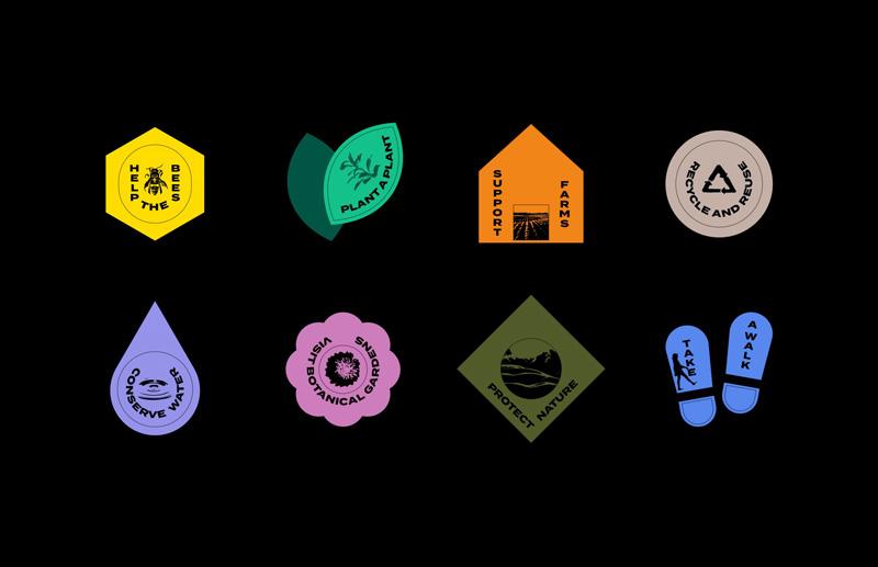Tous les symboles sur une même planche
